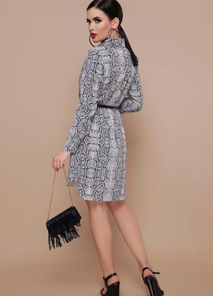 Трендовое платье-рубашка без пояса2 фото