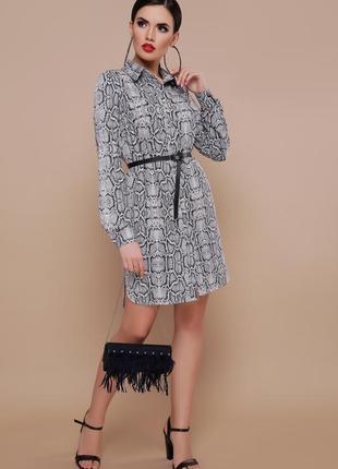 Трендовое платье-рубашка без пояса