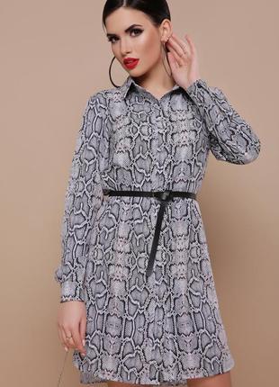 Трендовое платье-рубашка без пояса3 фото