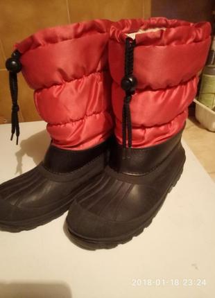Утепленные сапоги для дождливой погоды