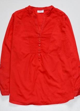 Красивая рубашка красного цвета
