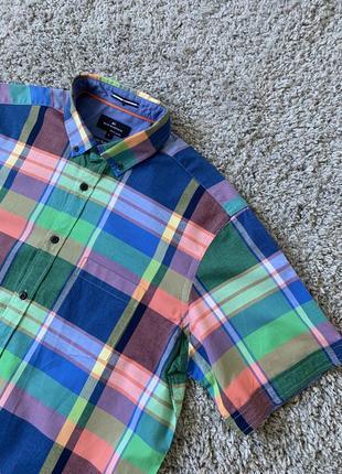 Рубашка для пикника с коротким рукавом — шведка в разноцветную клеточку от blue harbour