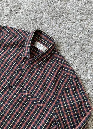Рубашка в разноцветную клеточку от topman с коротким воротником