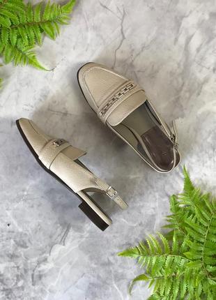 Открытые туфли цвета нюд с декором  sh1920093 next