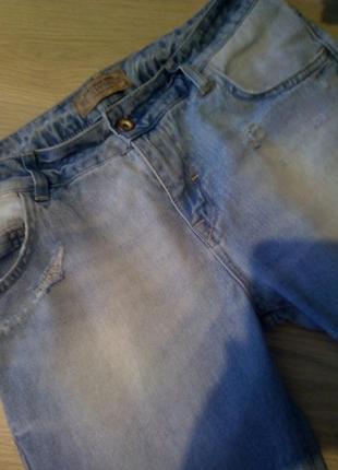 Брендовые джинсы рваный низ оригинал4 фото