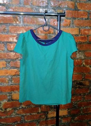 Стильная блуза топ кофточка с контрастной окантовкой