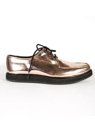 Мужские лоферы золотистые, мужские туфли с острым носом