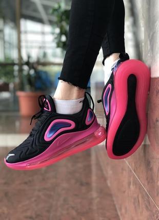 Шикарные женские кроссовки nike air max 720 white pink3 фото
