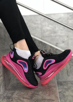 Шикарные женские кроссовки nike air max 720 white pink5 фото