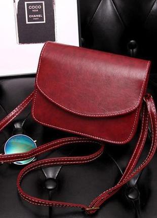 Женская сумка 6766 (черный, бордовый, синий)