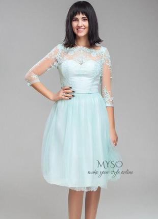 Полная ликвидация товара 💞 выпускное платье с кружевом chi chi london3 фото