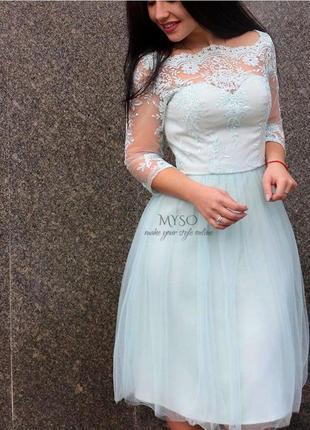Полная ликвидация товара 💞 выпускное платье с кружевом chi chi london6 фото