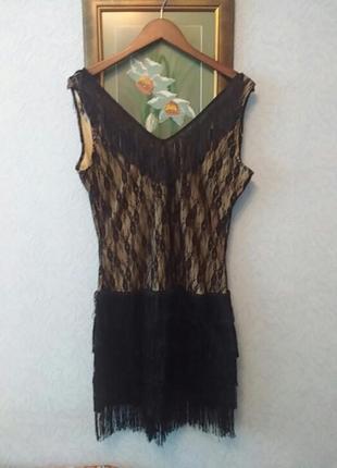Платье с бахромой в стиле гетсби чикаго