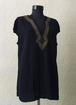 Легкая вискозная блуза в бохо стиле