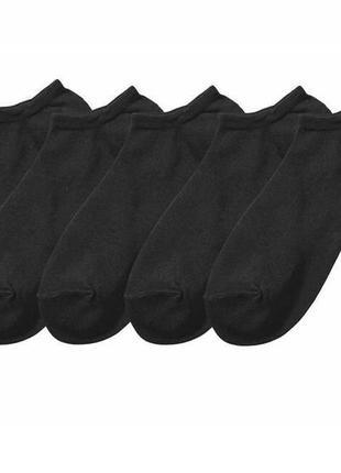 5 пар комплект короткие носки летние 35-36 esmara черные