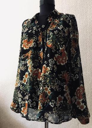 Модная шифоновая рубашка next