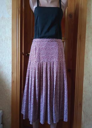 Летняя юбка,лёгкая юбка,длинная юбка,юбка,46р,италия.