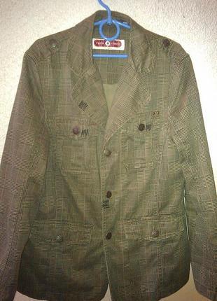 Хипповый котоновый пиджак на подкладке
