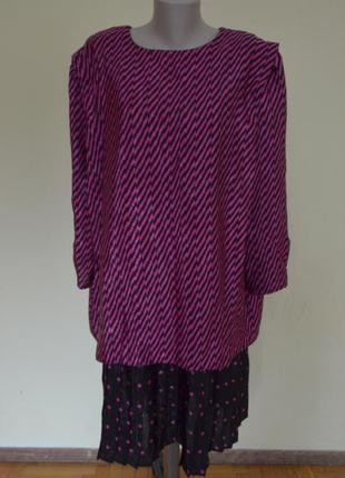 Шикарное английское платье-костюм комбинированное очень большого размера