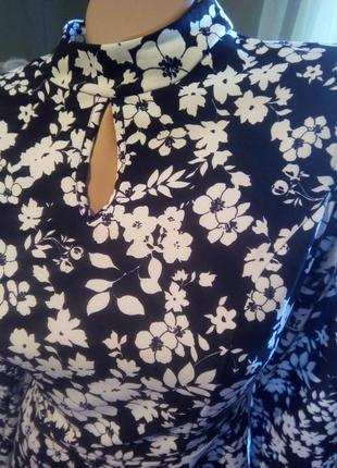 Бомбезное платье цветочный принт2 фото