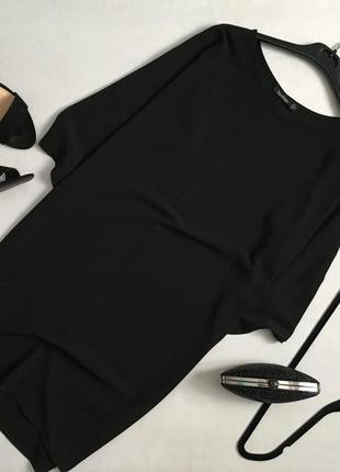 Элегантное базовое платье прямого кроя с расширенными рукавами boohoo