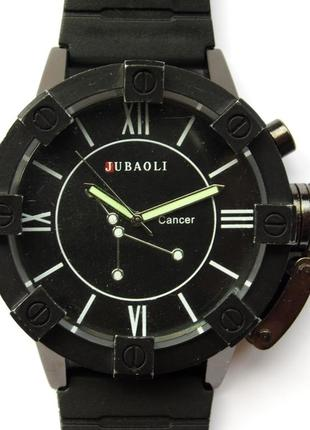 Jubaoli мощные мужские часы толстое стекло с защитой
