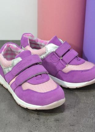 Кроссовки для девочки текстиль/экозамш размеры 26-29