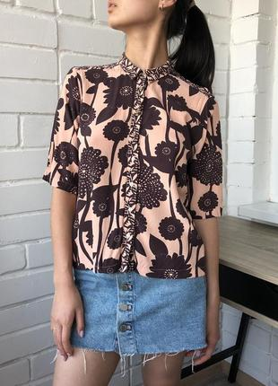 Летняя пляжная кроп рубашка гавайка river island s