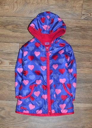 Ветровка с флисом, лёгкая курточка для девочки 1,-2 года