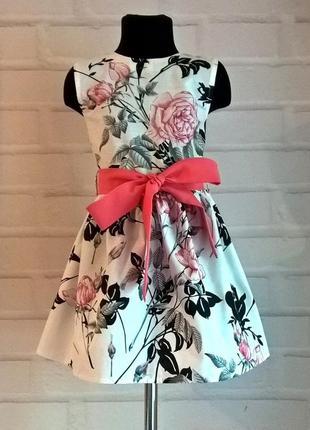 Платье для девочки. 100% хлопок. рр. 110-134