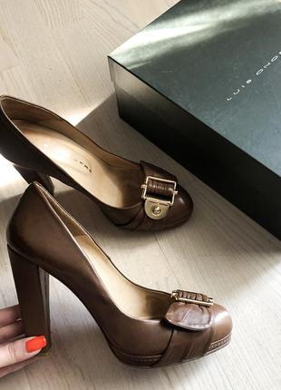 Коричневые туфли luis onofre