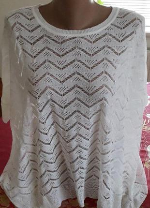 Изящная блуза 54-56р португалия.(cм замеры!)