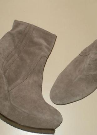 Кожаные ботинки на танкетке pura lopez (пура лопес)