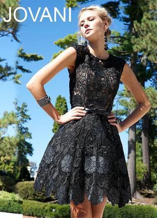Вечернее/выпускное черное кружевное платье от jovani{оригинал} возможен торг!