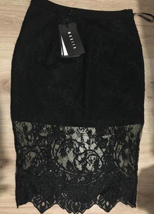 Кружевная юбка-карандаш mohito