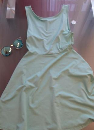 Мини платье с открытой спиной