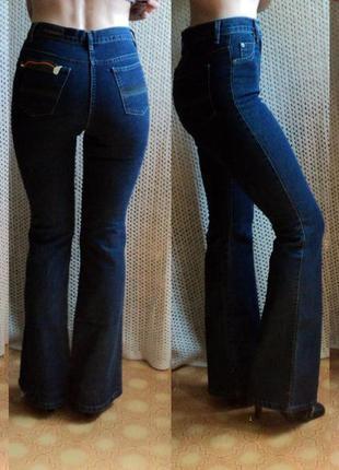 Высокие расклешенные стрейчевые джинсы от delfin. турция. w27l32.демисезон