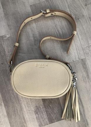 Поясная сумочка из кожи