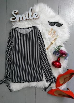 Актуальная блуза в полоску №164