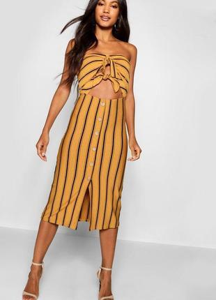Крута сукня-бандо із завязками