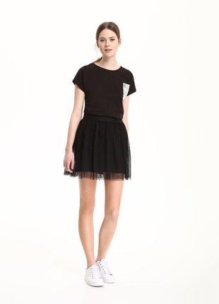Чорна фатінова юбка від the drywash way