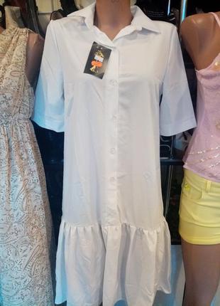 Новое белое платье р 46