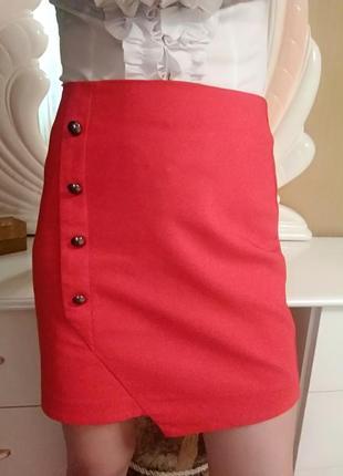 Ассиметричная юбка с пуговицами orsay