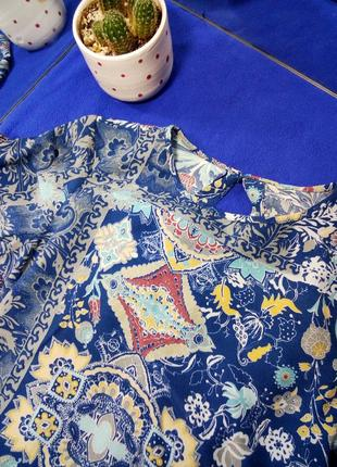 Блузка с баской, цветная