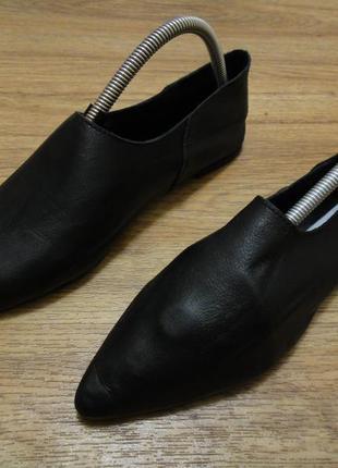 Кожаные мягусенькие балетки, туфли zara