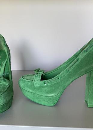 Замшевые туфли sperry