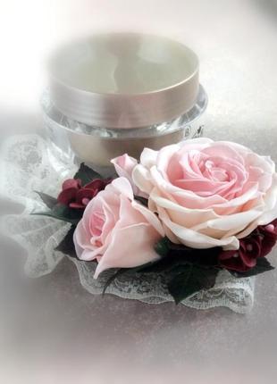 Заколка з трояндою та гортензією