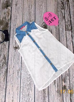 Шифоновая блуза primark для девочки 8-9 лет, 128-134 см