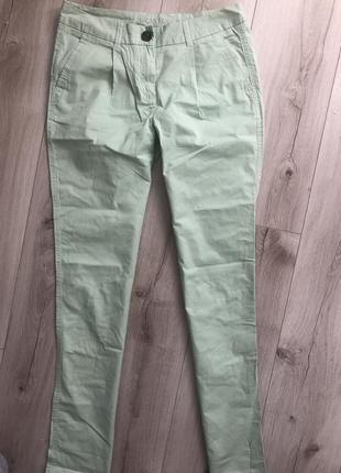 Летние легкие мятные брюки