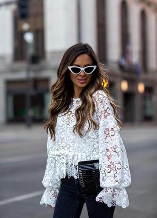 Шикарная кружевная блуза!